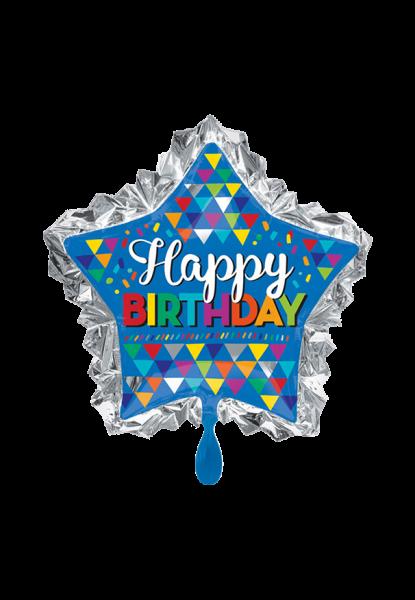 """""""Happy Birthday"""" sternförmig Folienballon"""