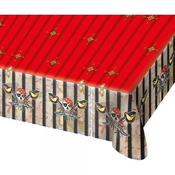 Rote Piraten-Tischdecke