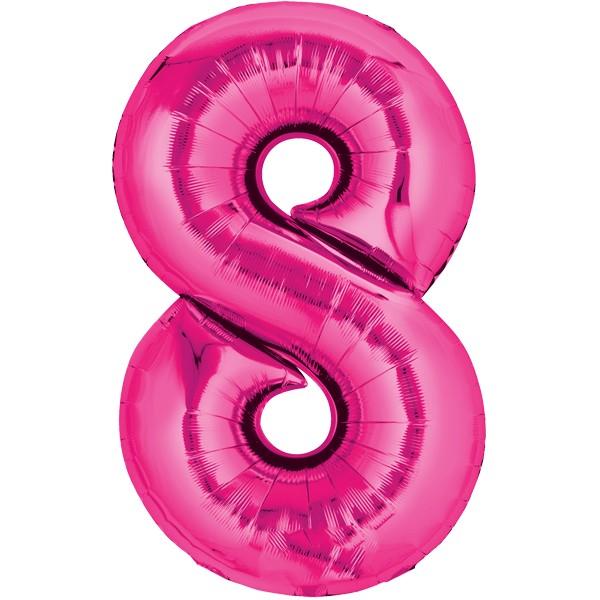 Zahlenballon XXLPink 8