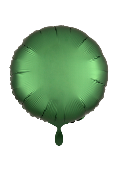 Satin Luxe Rund Grün Folienballon