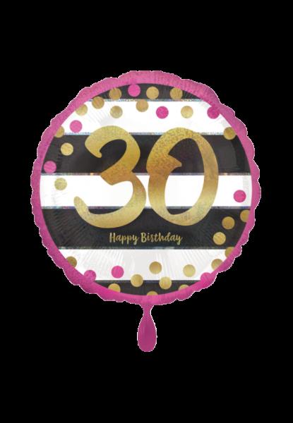 Pink & Gold Milestone 30 Folienballon