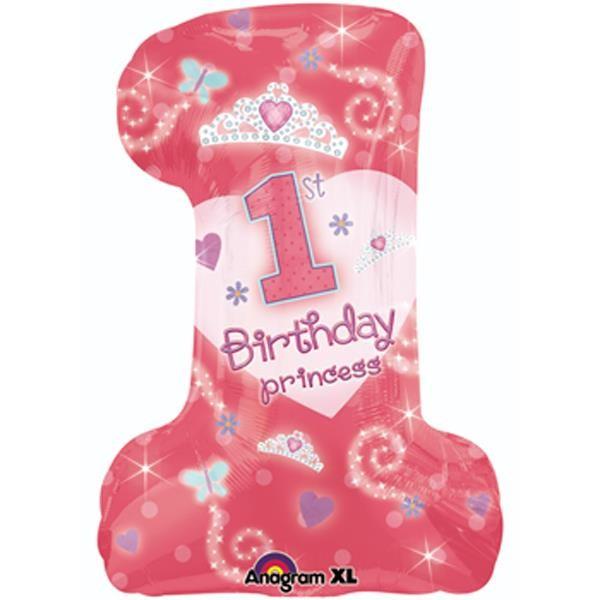 """Happy 1st Birthday"" Prinzessin Folienballon"