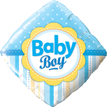 Baby Boy Dots und Dragonfly Folienballon Diamant