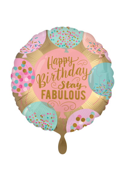 """Happy Birthday stay Fabulous"" Folienballon"