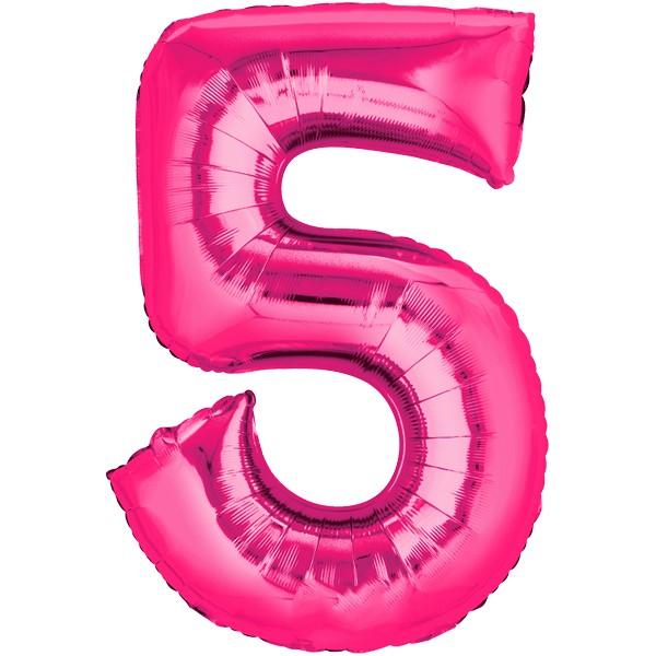 Zahlenballon XXLPink 5