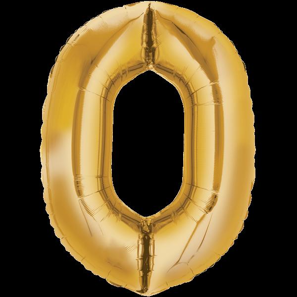Zahlenballon XXLGold 0
