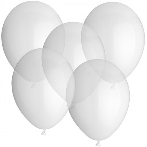 100 Latexballons - Kristal Klar - Ø 30cm - Rund
