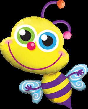 Strahlende Bienen folien figuren Folienballon