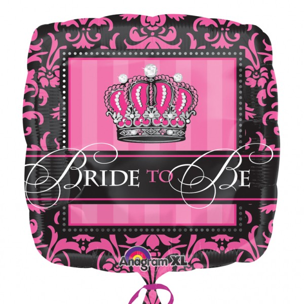 """Crowned Bride to Be"""" Folienballon"""