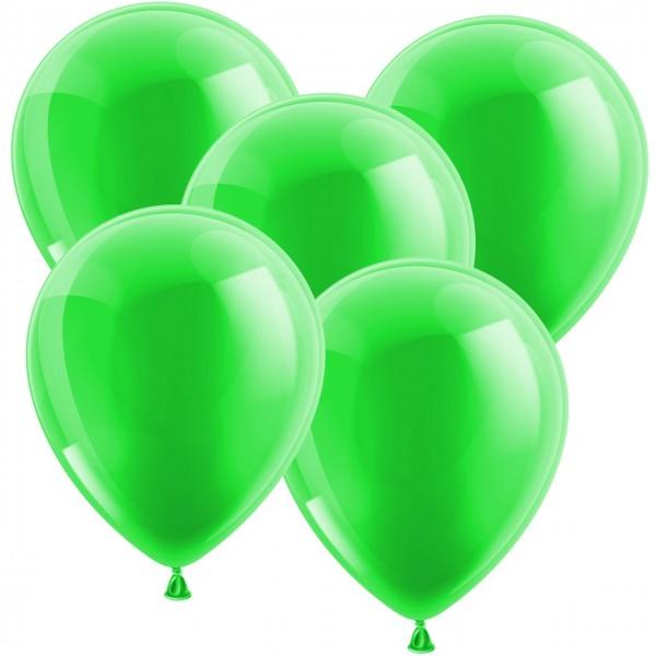 100 Latexballons - Metallic Grün 30cm - Rund