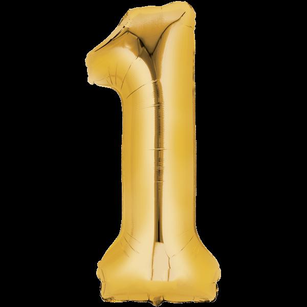 Zahlenballon XXLGold 1