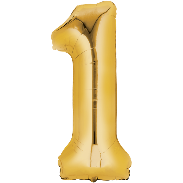Zahlenballon XXL Gold 1
