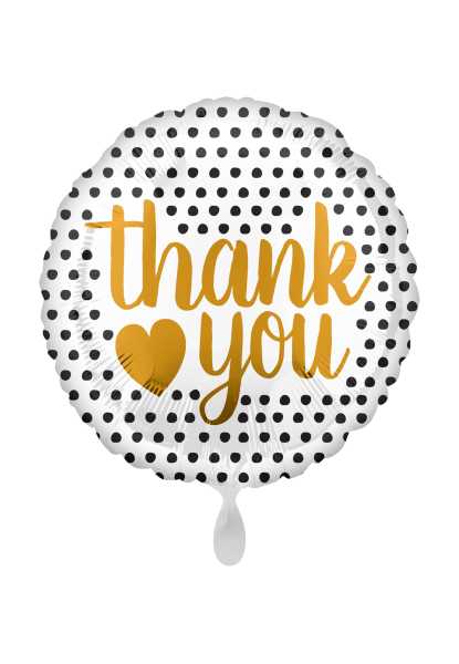 """Thank you"" moderne Punkte Folienballon"