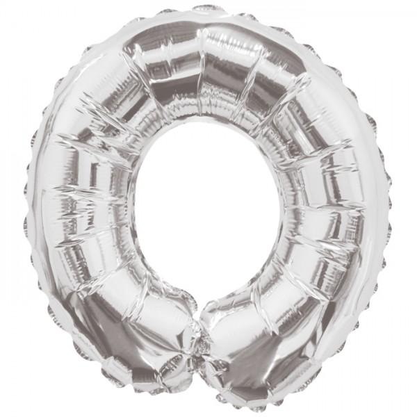 Buchstabenballon XXL Silber O
