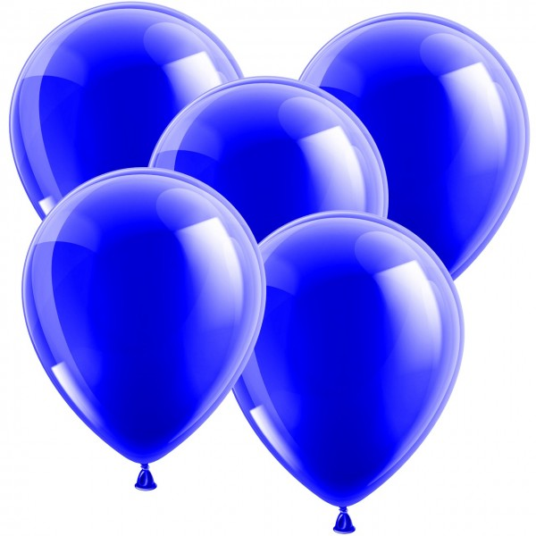 100 Latexballons - Metallic Blau 30cm - Rund