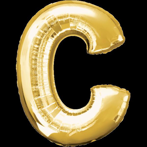 Buchstabenballon XXL Gold C