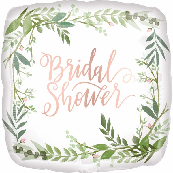 Standard Love & Leaves Bridal Shower Folienballon S40 verpackt