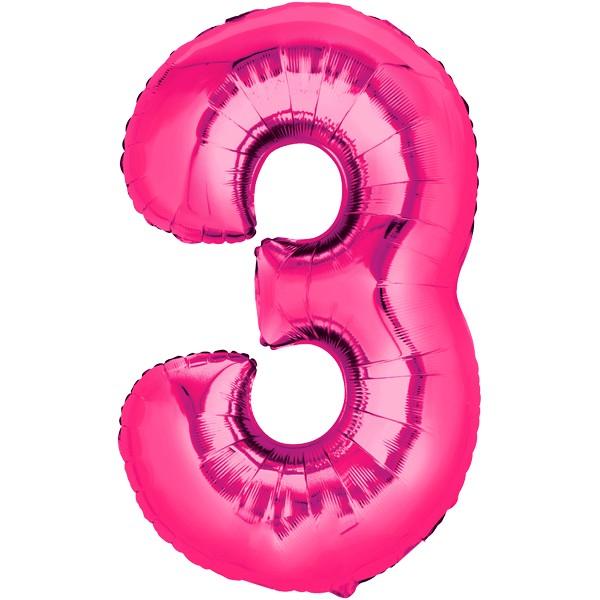 Zahlenballon XXLPink 3