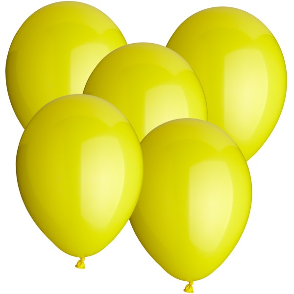 100 Latexballons - gelb - Ø 30cm - rund