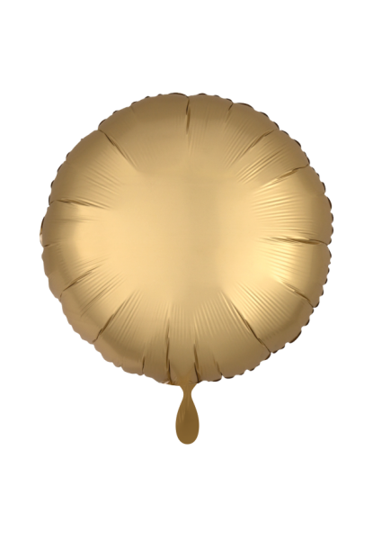 Satin Luxe Rund Gold Folienballon