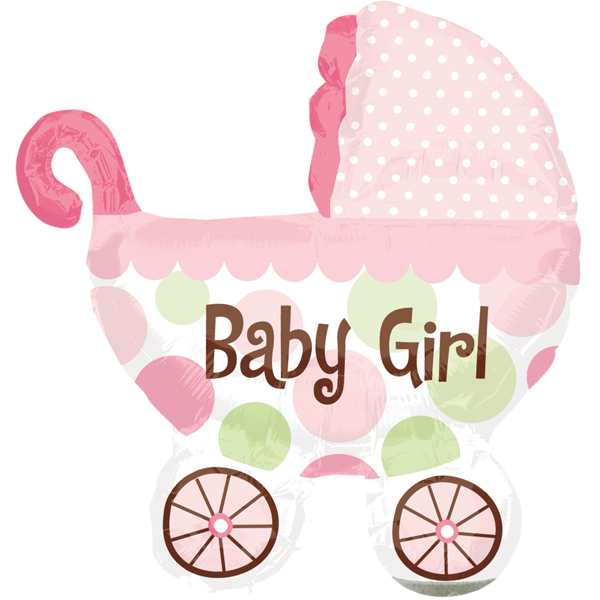 Geburt Folienballon Baby Girl