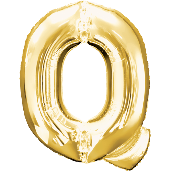 Buchstabenballon Gold XXL Q