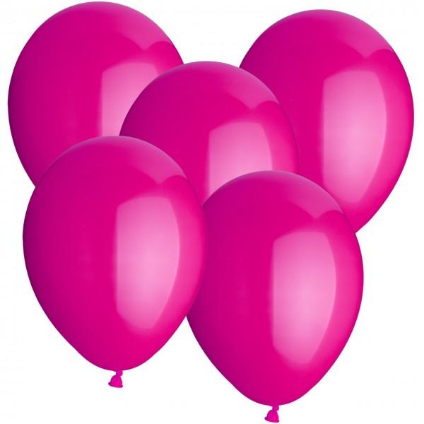 100 Luftballons aus Latex - Rosa - Ø 30 cm - Rund