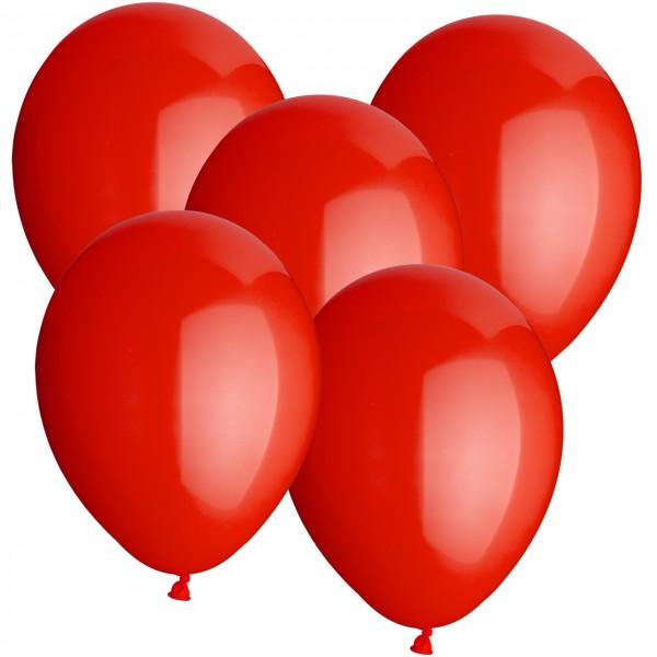 100 Latexballons - Rot - Ø 30cm - Rund