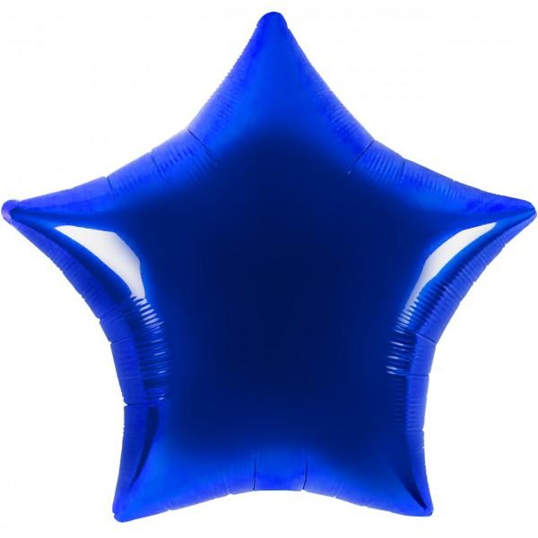 Satin Luxe Herz Blau Folienballon