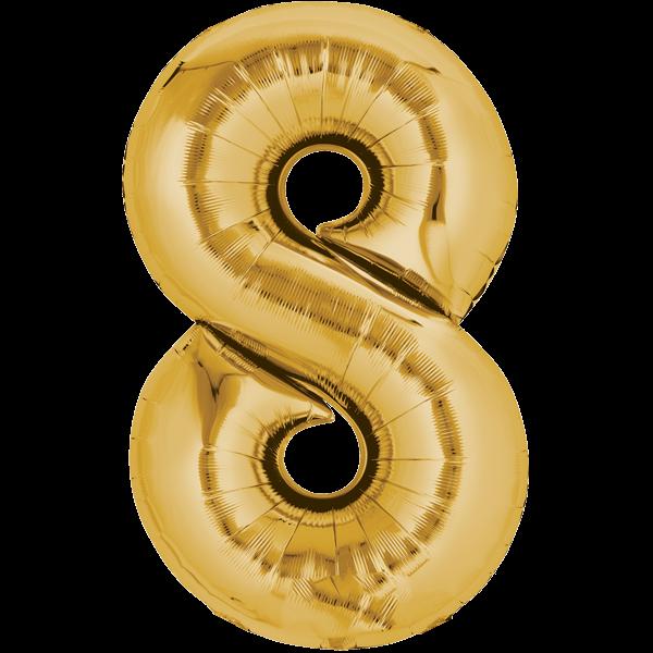 Zahlenballon XXLGold 8