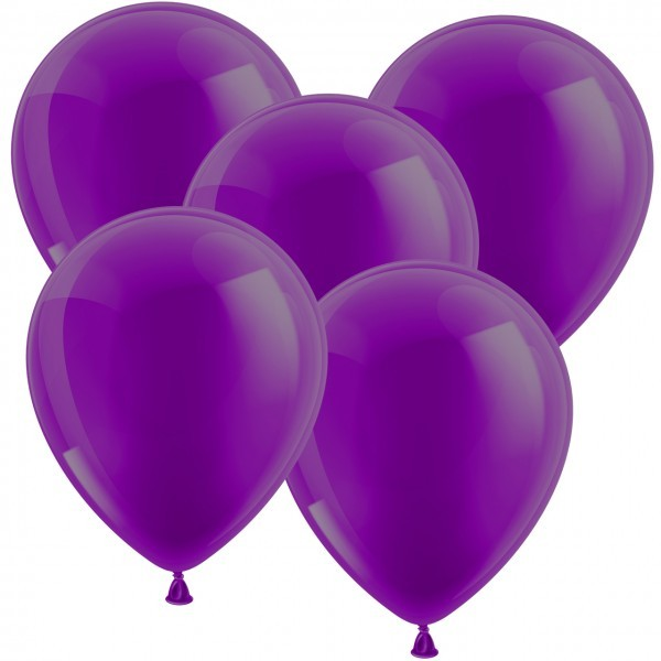 100 Luftballons aus Latex - Lila - Ø 30cm - Rund