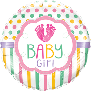 Baby Girl LO(Feet)E Folienform Rund