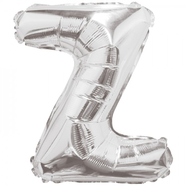 Buchstabenballon XXL Silber Z
