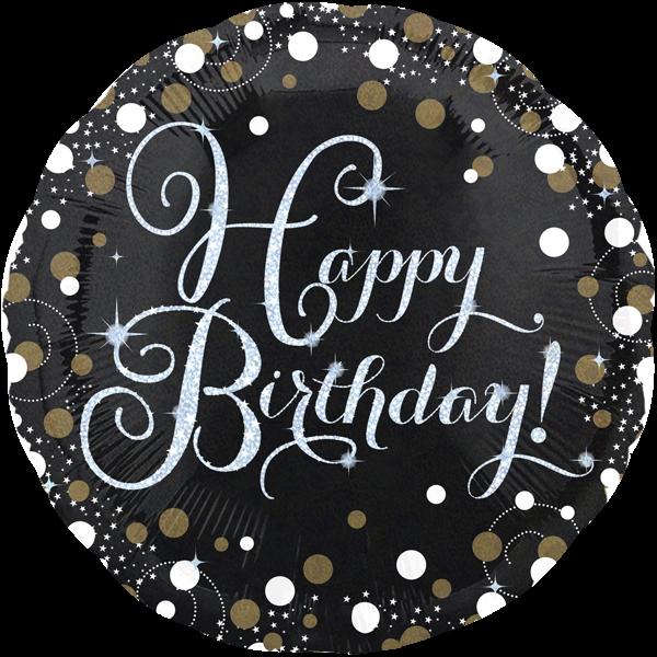 Happy Birthday Folienballon Holographic