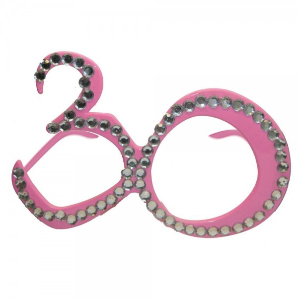 Rosa Partybrille 30