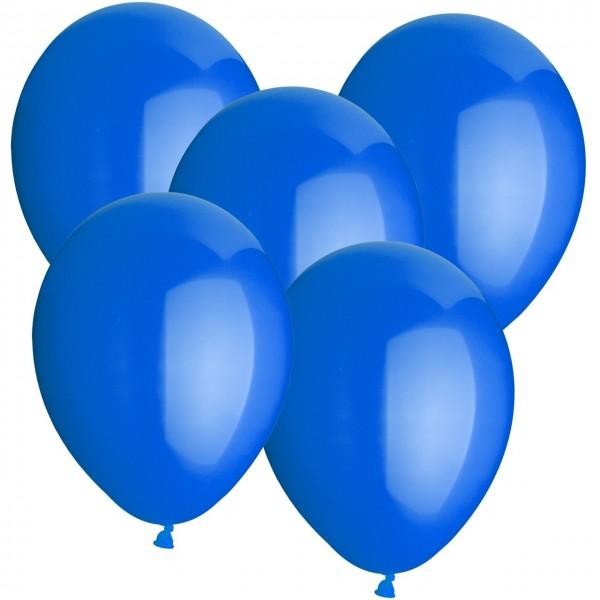 100 Latexballons - Blau - Ø 30cm - Rund