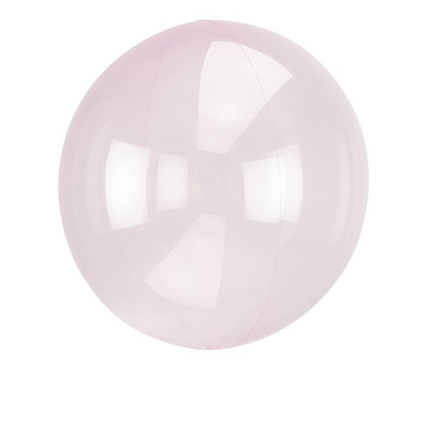 Clearz Crystal Light Pink Folienballon verpackt