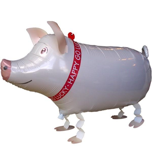 Airwalker Schwein Folienballon