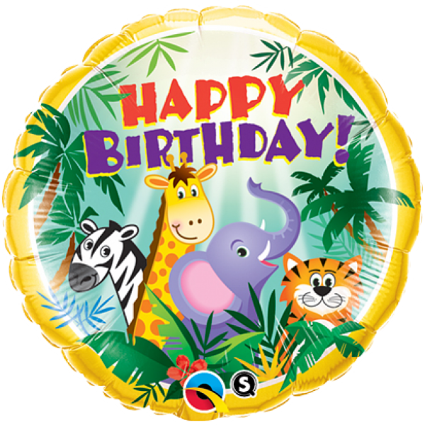 """Happy Birthday"" Geburtstag Ballon Jungle Party"