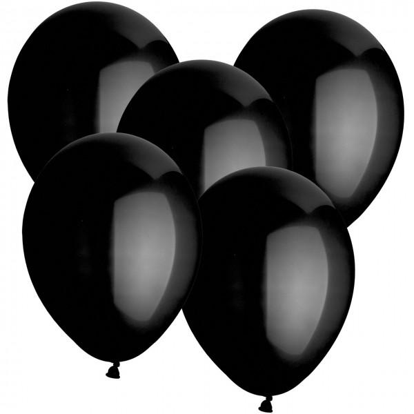 100 Latexballons - Schwarz - Ø 30cm - Rund