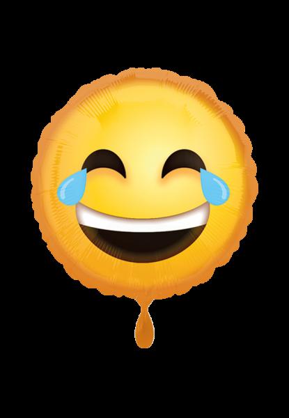 Lachender Emoji Folienballon