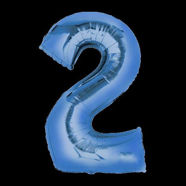 Zahlenballon XXL Blau 2