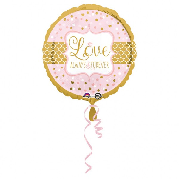 """Love Always & Forever"" runder Folienballon"