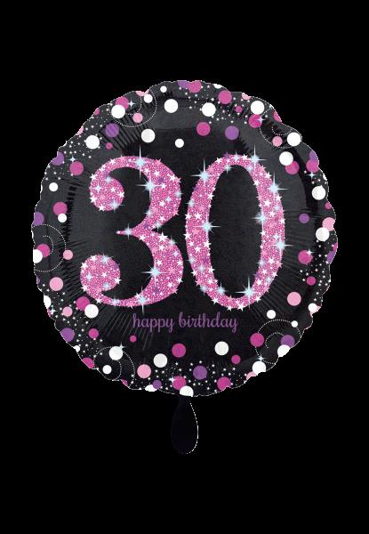 Pink Celebration 30 Folienballon