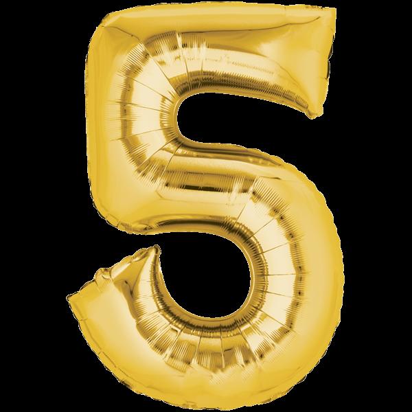 Zahlenballon XXLGold 5