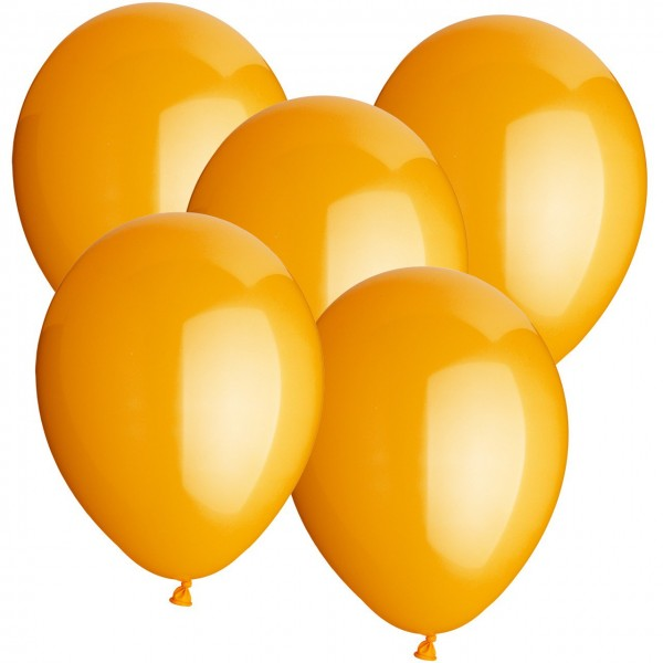100 Luftballons aus Latex - Orange - Ø 30 cm - Rund