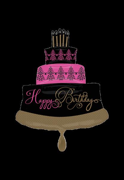 Happy Birthday Supershape Kuchen Folienballon