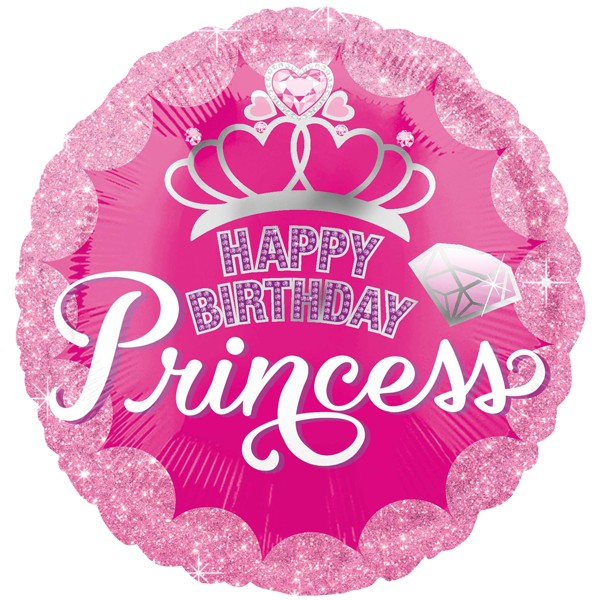 Happy Birthday Geburtstagsballon Folienballon Prinzessin