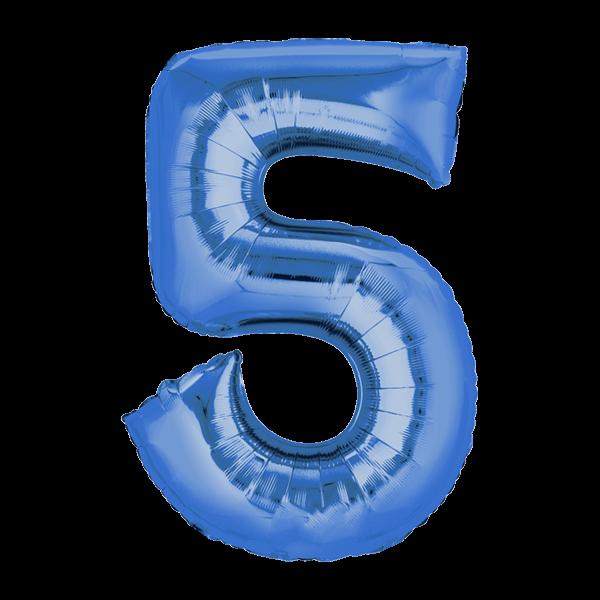 Zahlenballon XXL Blau 5