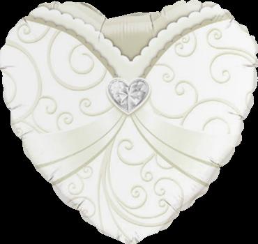Hochzeitskleid herzförmig Folienballon